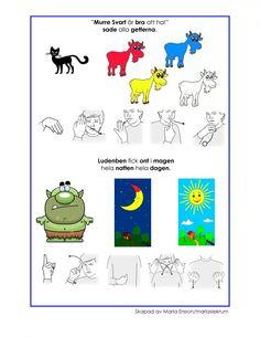 Mariaslekrum - Illustrerade sagor. Preschool, Snoopy, Education, Fictional Characters, Inspiration, September, Asia, Biblical Inspiration, Nursery Rhymes
