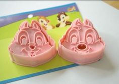 ABS Material Cookie Mold Pink Disney Chipmunk Shape Molds 2pcs/Set | WholePort.com#handmade#$6.99