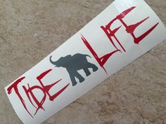 Vinyl Alabama Car Decal With Elephant-Roll by HappyAsALarkBoutique