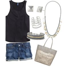 Sunday in the park by jeanniehinson on Polyvore www.stelladot.com/jeanniehinson featuring polyvore fashion style H&M J.Crew Stella & Dot