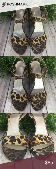 Stuart Weitzman Leopard Heels Adorable!!!   Size 9  Great, pre-loved Condition... please note some wear at the bottom of heels and front left toe area, as shown in pictures. Stuart Weitzman Shoes Heels