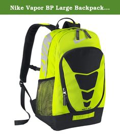 Nike Vapor BP Large Backpack Volt/Black/Met Silver. With padded shoulder straps and a very spacious main compartment for easy transport and organized access to all of your gear, the 2014 Max Air Vapor Backpack was redesigned with comfort and style in mind.