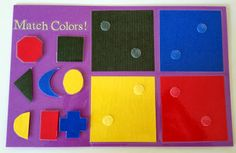 MOM-B-A Project: No-Sew Toddler Quiet Book Page Idea - Match Colors