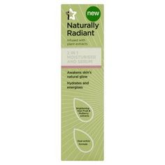 Superdrug Naturally Radiant 2 in 1 Moisturiser & Serum  - Awakens skin's natural glow - Hydrates & energises