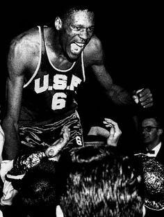 Bill Russell - University of San Francisco Basketball History, I Love Basketball, Basketball Legends, College Basketball, Basketball Players, University Of San Francisco, England Fans, Bill Russell, College Hoops