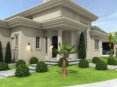 Classic House Exterior, Modern Exterior House Designs, Classic House Design, Dream House Exterior, Modern Bungalow House, Bungalow Exterior, House Outside Design, House Front Design, House Plans Mansion