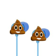 Poop Emoji earbuds