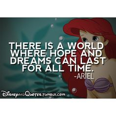 Ariel | Quote | The Little Mermaid | Loved and pinned by www.nocyoga.com