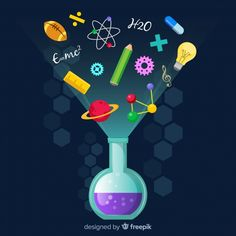 biology fondos Colorful education concept with flat design Free Vector Chemistry Projects, Chemistry Art, Science Projects, Science Week, Science Fair, Science For Kids, Science Classroom Decorations, School Decorations, E Mc2