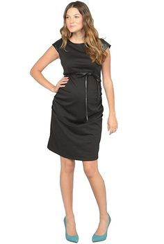 Jules And Jim Fitted Pleather Trim Maternity Dress | Maternity Clothes  www.duematernity.com