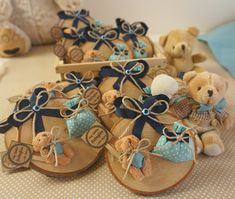 Baby Boy Favors, Handmade Crafts, Diy Crafts, Mom Dad Baby, Baby Table, Wedding Favours Luxury, Magic Crafts, Baby Event, Baby Baptism