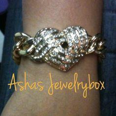 AJB heart glam back instock gold and silver ❤#ashasjewelrybox #armcandy#armswagg#accesories#jewelry#glam - @ashasjewelrybox- #webstagram