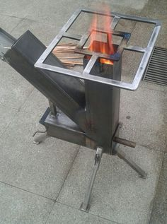 Robotic Welding Comes Of Age – Metal Welding Rocket Stove Design, Diy Rocket Stove, Rocket Stoves, Outdoor Stove, Outdoor Fire, Metal Projects, Welding Projects, Jet Stove, Fire Pit Grill