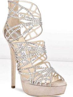 Jimmy Choo strappy high #heels ToniK #Wedding #Hairstyles ♥❸ Holiday sparkle!