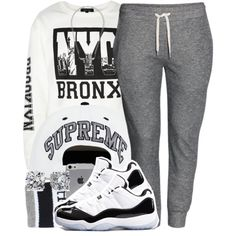 A fashion look from May 2014 featuring H&M activewear pants, HUF socks and Concord sneakers. Browse and shop related looks.