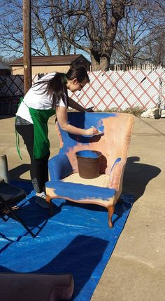 Painting upholstery using Junk Gypsy Paint