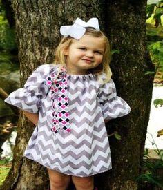 Chevron Dress For Girl