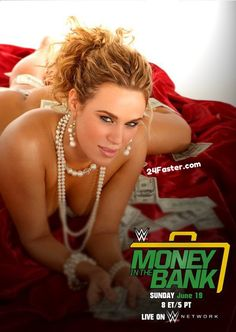 WWE Money in the Bank 2016 Poster Wallpaper Ft. WWE Diva Lana, Seth Rollins, Roman Reigns, John Cena