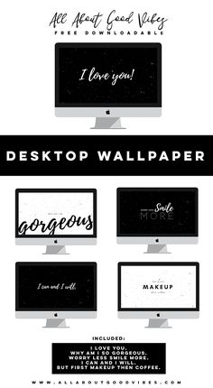 Because you've been so amazing! I have created these black and white desktop wallpapers for you, my lovely readers and subscribers.