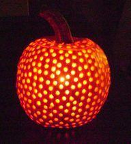 Pumpkin + Drill - http://craftideas.bitchinrants.com/pumpkin-drill/