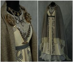 proud & defiant — sartorialadventure: Viking dresses by Savelyeva.You can find Viking dress and more on our website.proud & defiant — sartorialadventure: Viking dresse. Viking Costume, Viking Dress, Medieval Costume, Medieval Dress, Viking Wedding Dress, Norse Clothing, Medieval Clothing, Historical Costume, Historical Clothing