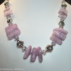 Radiant Divine Love  Heart-Mind Communication Kunzite, Amethyst, Sterling, Pewter  $347 Set #Jewelry #Gemstone #Alchemy http://boldbodaciousjewelry.artspan.com/lg_view_multi.php?aid=2631462
