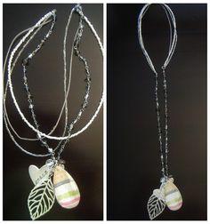 Bead necklace DIY,#diy,#necklace,#modpodge,