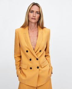 834c092238 Image 2 of COLOURED DOUBLE-BREASTED BLAZER from Zara