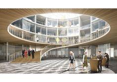 jaja architects - Sandnes Townhall Public Architecture, Architecture Details, Landscape Architecture, Interior Architecture, Architecture Panel, Contemporary Architecture, Level Design, Public Space Design, Interior Rendering