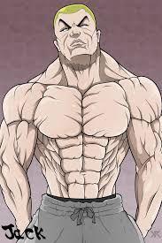 ผลการค นหาร ปภาพสำหร บ Jack Hanma Art Art Male Sketch Fitness Models