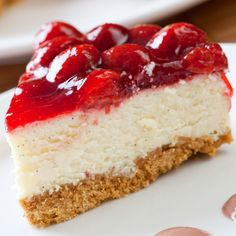 This cheesecake with strawberry sauce recipe makes a delicous cheesecake, topped with your own strawberry sauce.