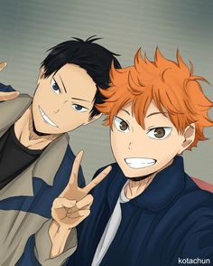 Kagehina. Dont really ship them. I like the picture though