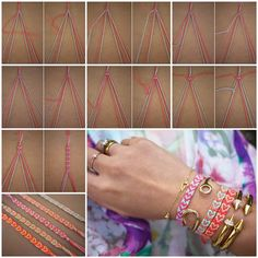 How to Make Heart Pattern Friendship Bracelet