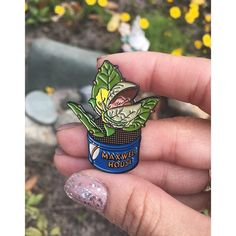Sorry not sorry for the pin spam! We just got this baby Audrey 2 in this morning and I'm dying  you can grab one of these man-eaters through the shop link in my bio#audrey2 #littleshopofhorrors #feedmeseymour #venusflytrap #pin #pins #pinstagram #pinsofig #lapelpins #enamelpins #flair #pingame #pingamestrong by kalifriend