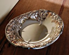 silver serving dishes | Arthur Price ornate silver plate serving dish by nancyplage