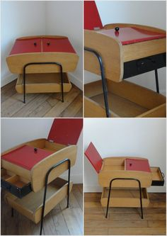 Coin Couture, Unique Furniture, Vintage Furniture, Sewing Cabinet, Sewing Tables, Vintage Sewing Machines, Sewing Box, Sewing Rooms, Mid Century House