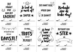 The BroodBriefjes for the classroom are there! Nice for teachers and masters to . - Back to School Coaching, Positive Behavior Support, Leader In Me, Joelle, School Hacks, Primary School, Classroom Management, Kids Learning, Best Quotes