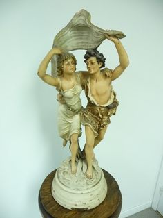 Large antique plaster statue from Bruchon  circa by LaSeigneurie