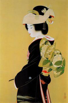 Painting by Uemura Tsune aka Uemura Shoen (Japanese, 1875 - 1949) Meiji period artist in the Nihonga style
