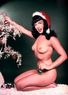 Bettie Page in Playboy's January 1955 centerfold, shot by Bunny Yeager