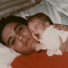 Elvis and daughter Lisa Marie
