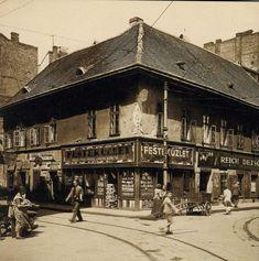 Dob utca / Csányi utca - corner, ca. Old Pictures, Old Photos, Vintage Photos, Budapest Hungary, Historical Photos, Tao, Louvre, Street View, Europe