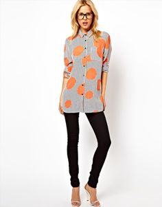Enlarge ASOS Shirt In Oversized Spot And Stripe Print £36