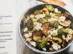 Quinoasalade met gegrilde groenten en feta