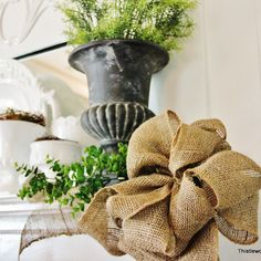 How To Make a Burlap Bow - Thistlewood Farm