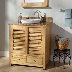 cool vanity cabinets made of bamboo
