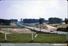 It's August 1965 and we're looking east along Staples Mill Road where the construction of Interstate 64 is well underway. [permission granted by Jeff Hawkins]