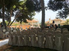 Wedding ceremony set up in Marbella