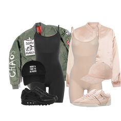 A fashion look from March 2016 featuring Cameo Rose jackets, NIKE sneakers and Reebok. Browse and shop related looks.