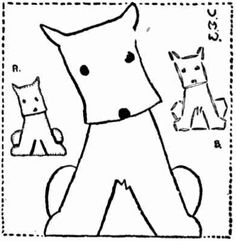scotty dog free vintage 1930's motf for embroidery or applique design knitwear childrens kids toddlers